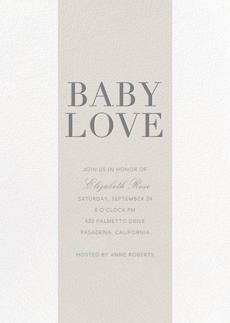Baby Stripe - Gray - Sugar Paper - Baby shower