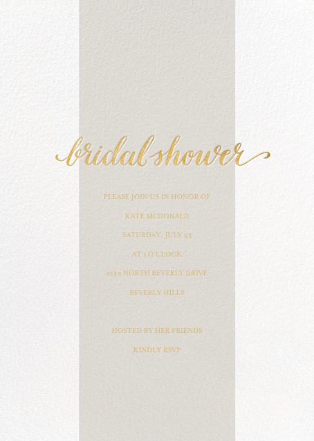Bridal Stripe - Gray - Sugar Paper - Bridal shower