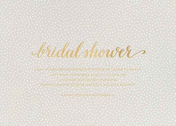 Bridal Flurry - Gray - Sugar Paper - Bridal shower