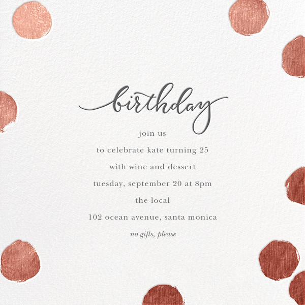 Big Dot Birthday - White/Rose Gold - Sugar Paper - Adult birthday