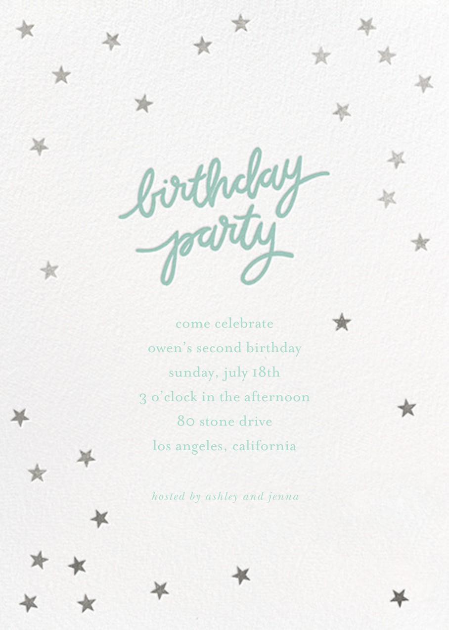 Birthday Stars - Blue/Silver - Sugar Paper