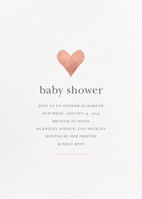 Luminous Heart - White/Rose Gold - Sugar Paper - Baby shower