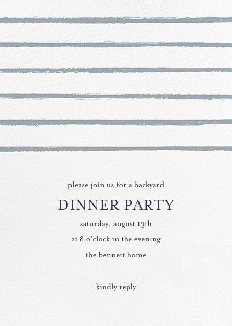 Painted Stripes - Pacific - Sugar Paper - Dinner party
