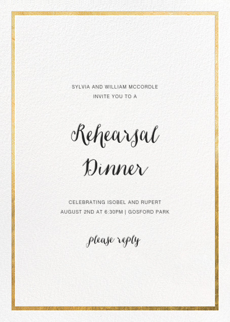 Idylle - White/Gold - Paperless Post - Rehearsal dinner