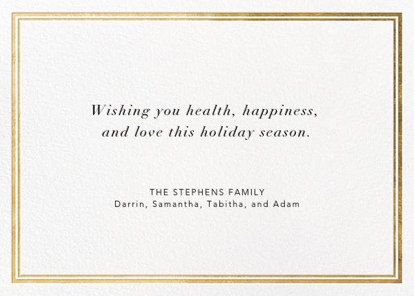 Christmas Exclamation - Gold - Jonathan Adler - Christmas - card back