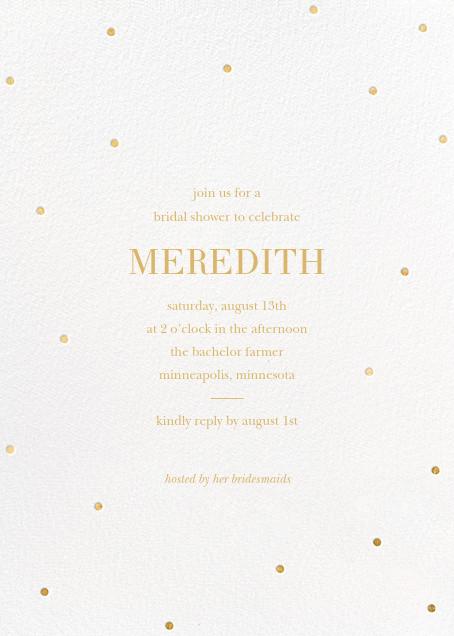 Scattered Dots - White/Gold - Sugar Paper - Bridal shower