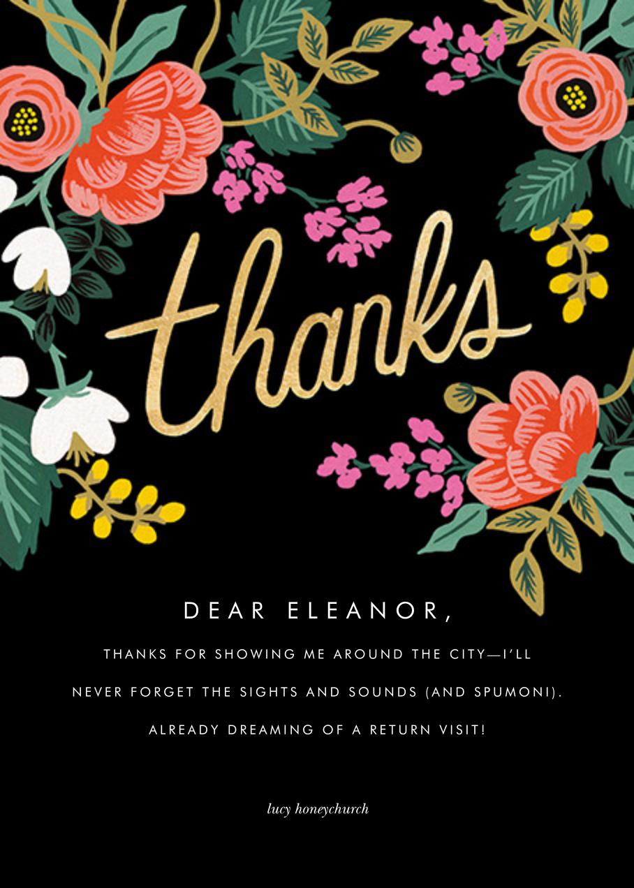 Birch Monarch (Thank You) - Black - Rifle Paper Co. - Thank you
