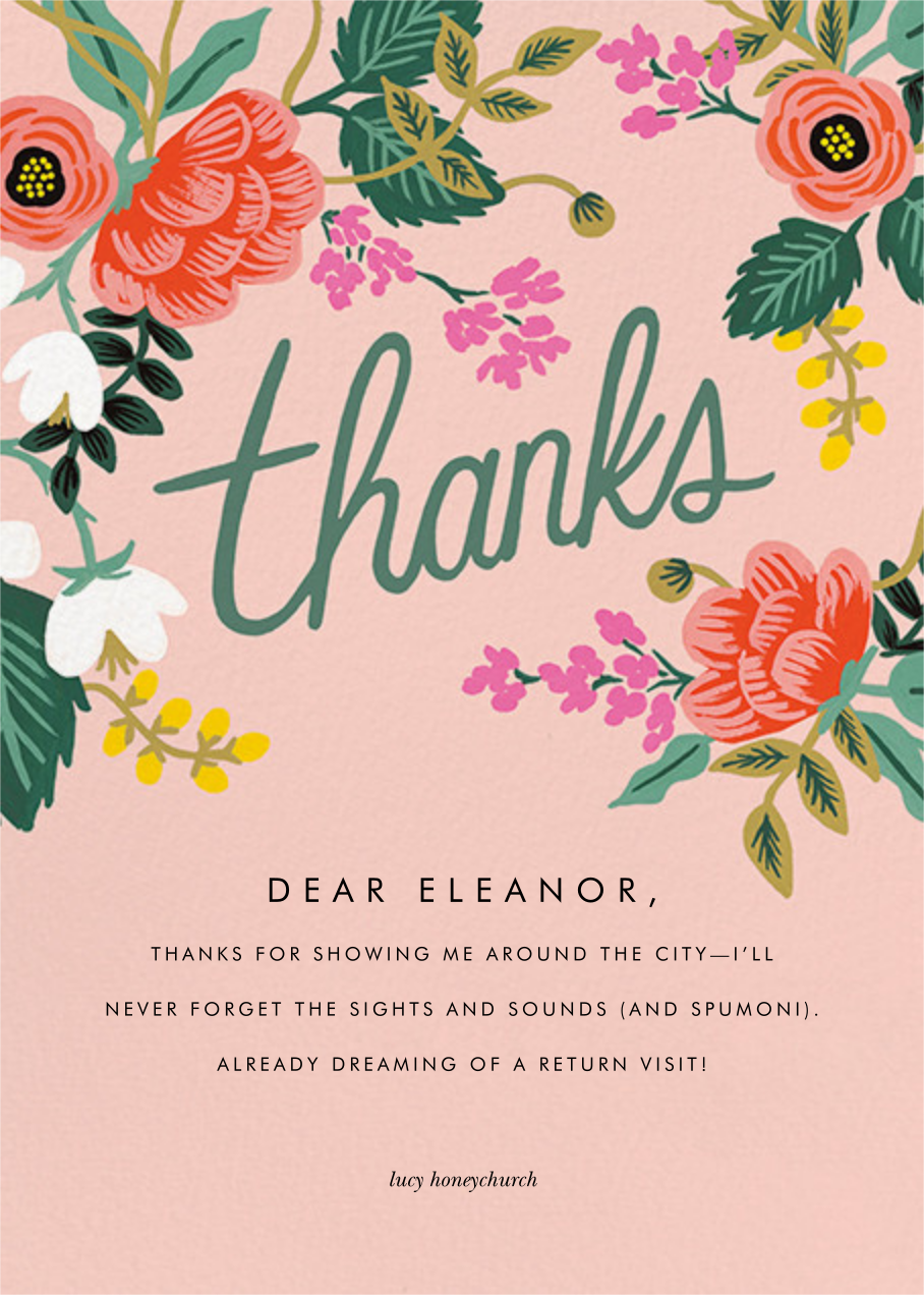 Birch Monarch (Thank You) - Pink - Rifle Paper Co. - Thank you