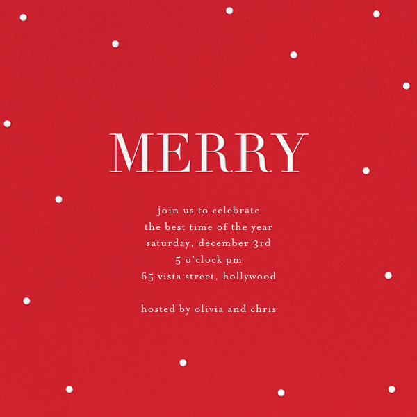 Merry Dots - Red/White - Sugar Paper - Christmas party