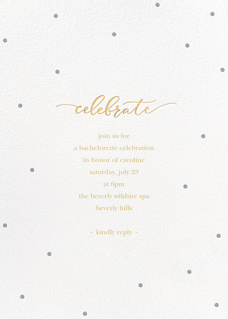 Celebration Dots - White/Pacific - Sugar Paper - Bachelorette party