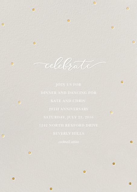 Celebration Dots - Gray/Gold - Sugar Paper - Anniversary party