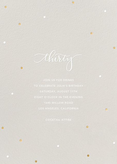 Milestone Dots (Thirty) - Gray - Sugar Paper - Adult birthday