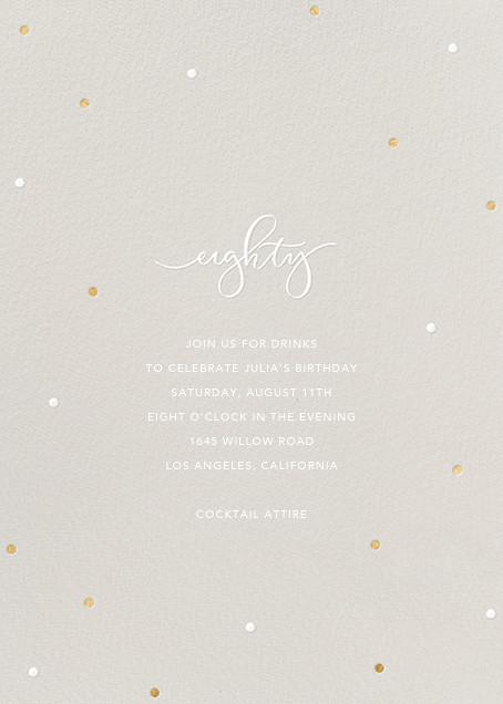 Milestone Dots (Eighty) - Gray - Sugar Paper - Adult birthday