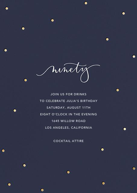 Milestone Dots (Ninety) - Navy - Sugar Paper - Adult birthday