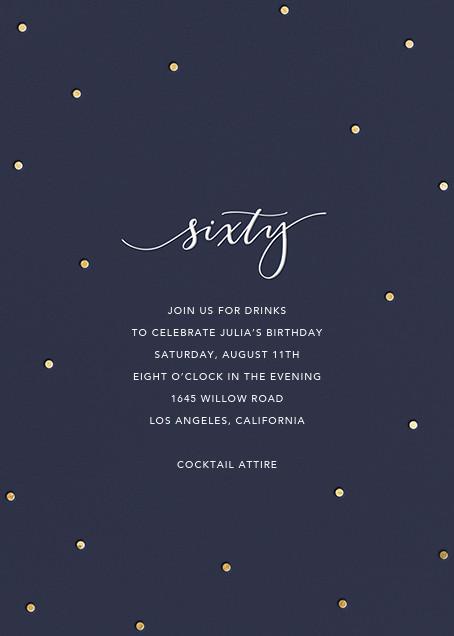 Milestone Dots (Sixty) - Navy - Sugar Paper - Adult birthday