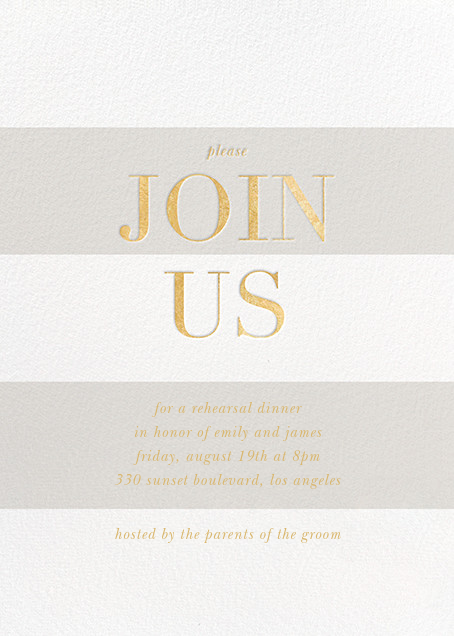 Bold Welcome - Gray - Sugar Paper - Rehearsal dinner