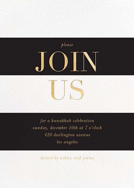 Bold Welcome - Black - Sugar Paper - Hanukkah