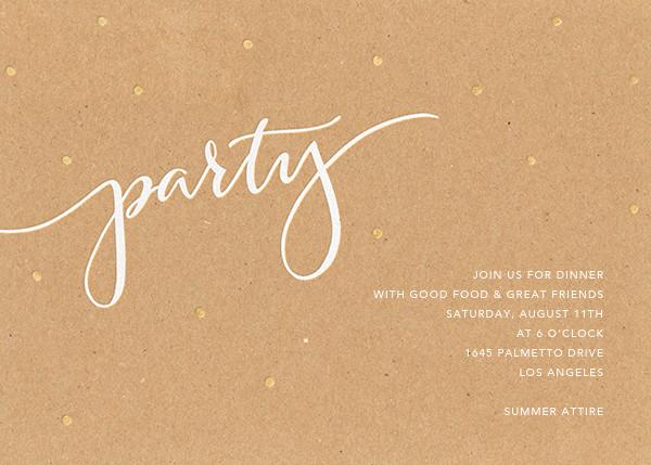 Signature Party - Kraft - Sugar Paper - General entertaining