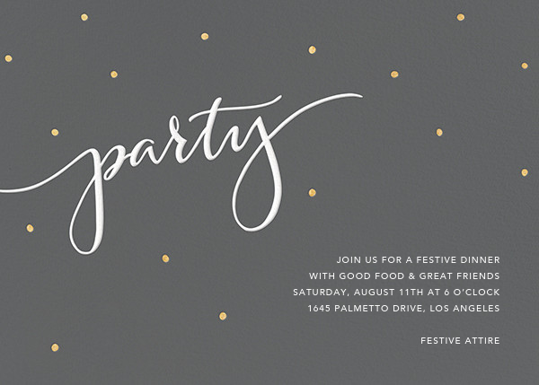 Signature Party - Charcoal - Sugar Paper - General entertaining
