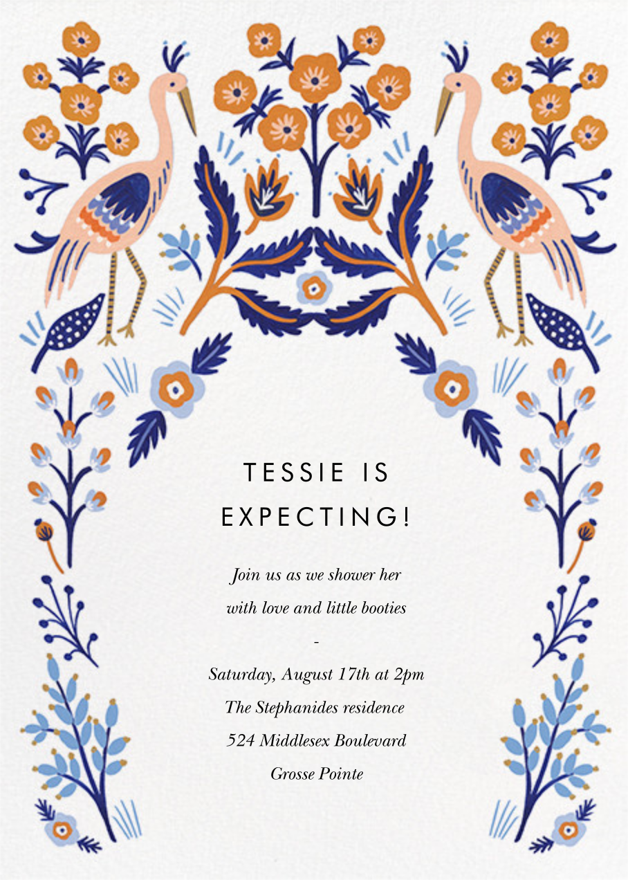 Heron Heralds (Invitation) - Rifle Paper Co. - Baby shower