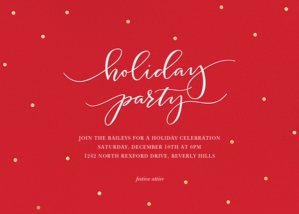 Holiday Dots - Red - Sugar Paper - Christmas party