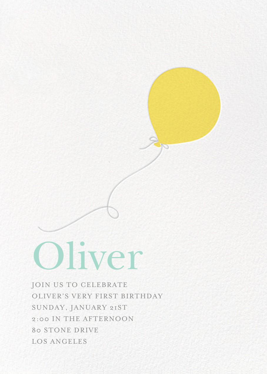 Little Balloon - Yellow - Sugar Paper - Kids' birthday