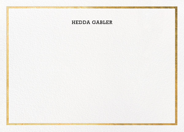 Gracile (Stationery) - Gold - Paperless Post - Personalized stationery