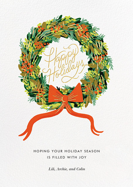 Wintergreen Holiday - Rifle Paper Co. - Holiday cards