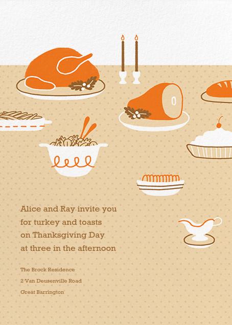 Turkeyscape - Paperless Post - Autumn entertaining