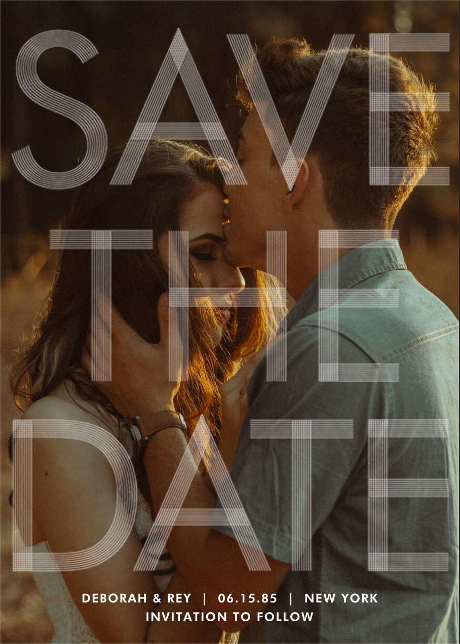 Sellotape (Tall) - Paperless Post - Save the date