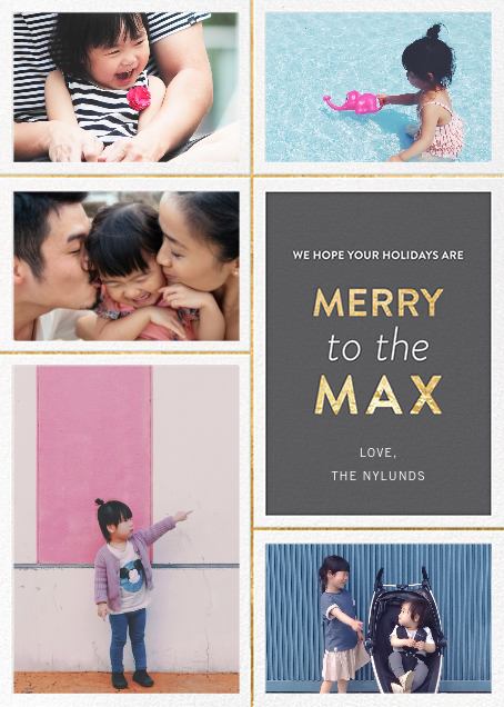 Merry to the Max - Gray - Jonathan Adler - Holiday cards