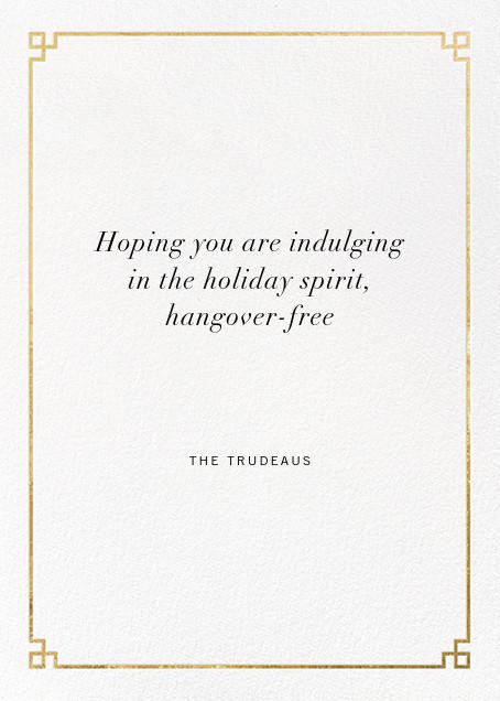 Nixon Holiday - Gold - Jonathan Adler - Holiday cards - card back