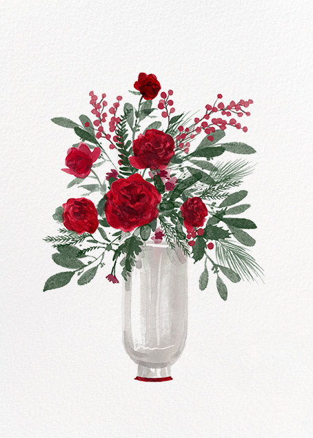 Arrangement in Red - Paperless Post - Holiday cards