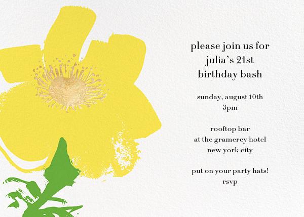 Yellow Poppies - kate spade new york - Adult birthday