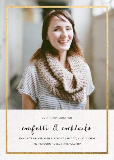 Idylle (Photo) - Gold - Paperless Post - Adult birthday