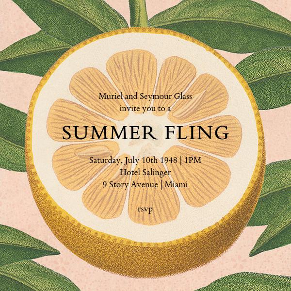 Citrus Slice - John Derian - Summer entertaining