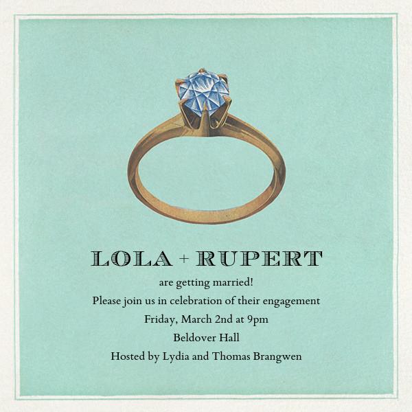 Diamond Ring - John Derian - Engagement party