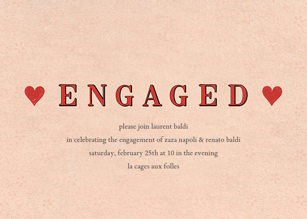 Engaged Hearts - John Derian - Engagement party