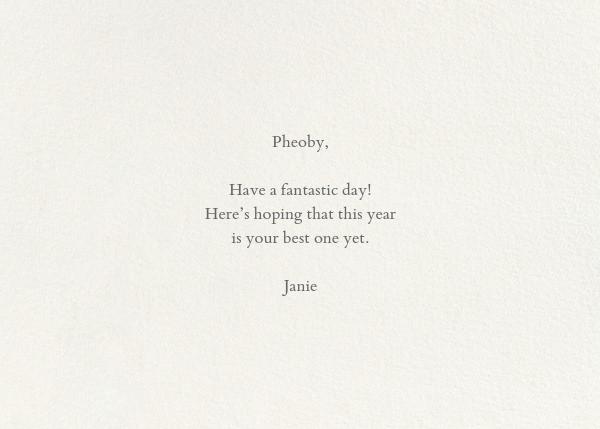 Pâtisserie Sampler - John Derian - Birthday - card back