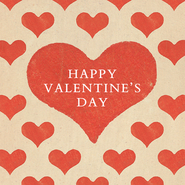 Patterned Hearts (Greeting) - John Derian - Valentine's Day