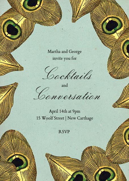 Peacock Plumage - John Derian - Cocktail party