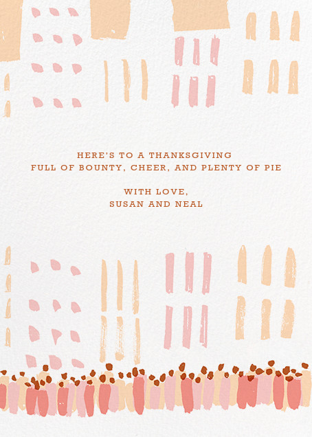 Feathered Float - Paperless Post - Thanksgiving - card back