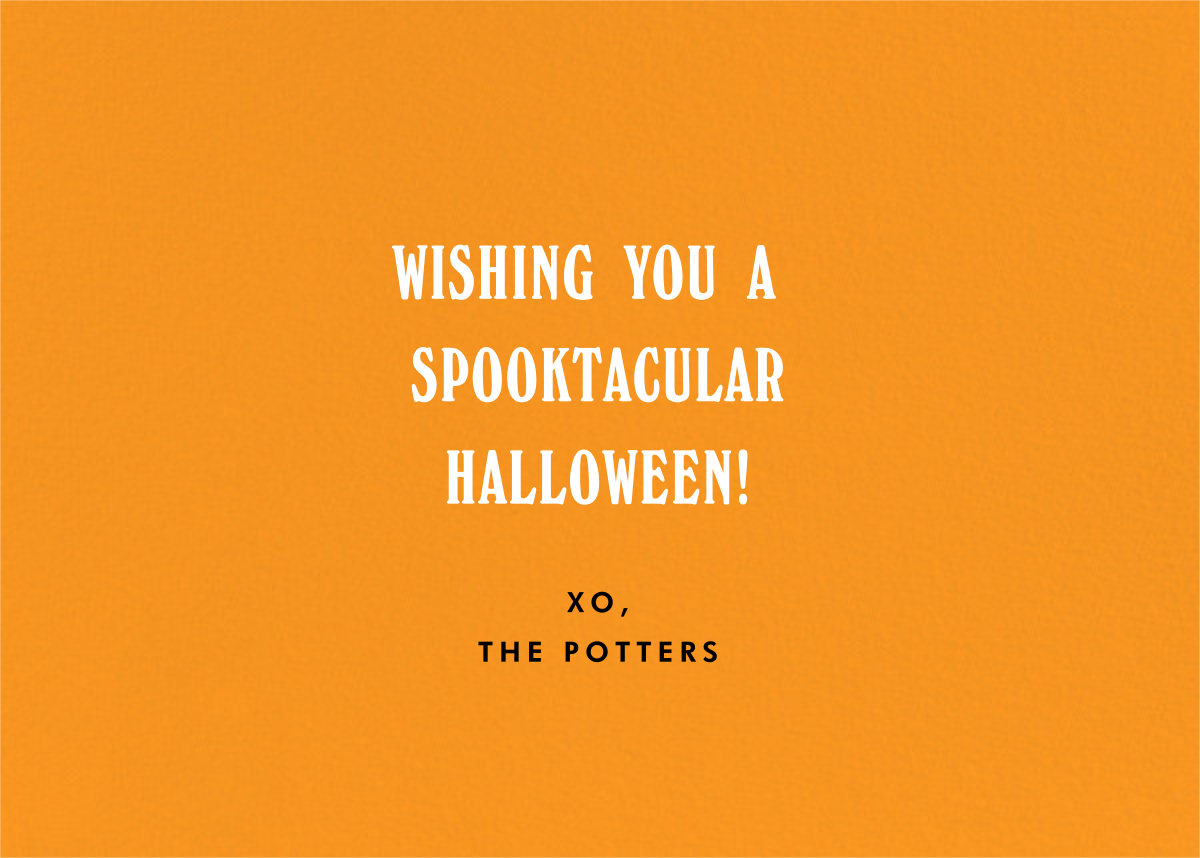Happy Halloween - Photo - Paperless Post - Halloween - card back