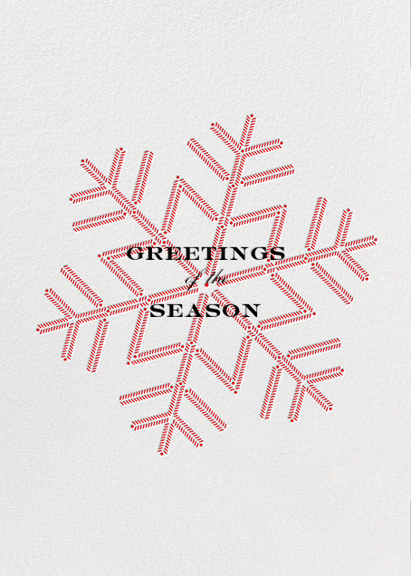 Snowlines - Red - Paperless Post - Use your own logo