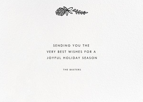 Botanical Lace (Horizontal Photo) - Rose Gold - Rifle Paper Co. - Holiday cards - card back