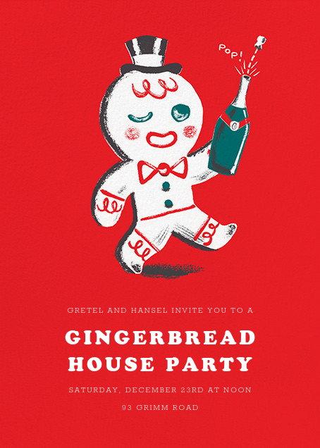 Gingerbread Gent - Paperless Post - Holiday party