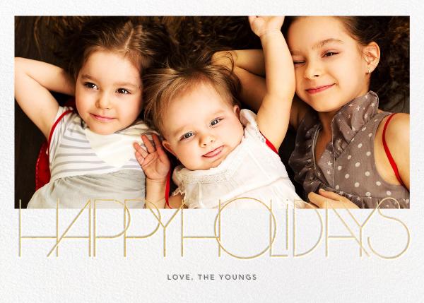 Avant-Garde Holiday (Horizontal) - Paperless Post - Holiday cards