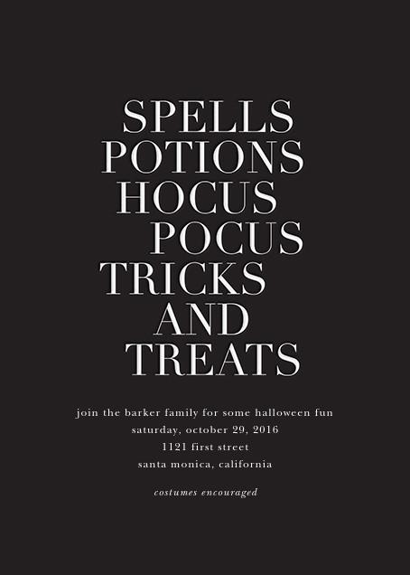Hocus Pocus - White - Sugar Paper - Halloween