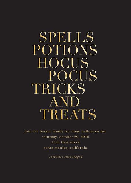 Hocus Pocus - Gold - Sugar Paper - Halloween