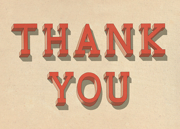 Serif Shadows - John Derian - Thank you